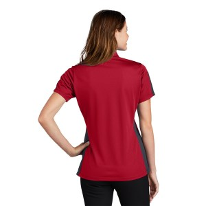 Sport-Tek® Ladies PosiCharge® Active Textured Colorblock Polo – LST695
