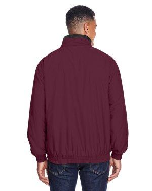 Harriton Adult Fleece-Lined Nylon Jacket – M740