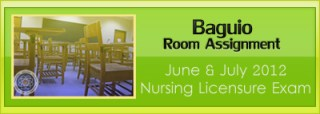 Baguio room assignment June and July 2012 NLE