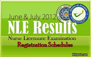June-July-2012-NLE-Registration Schedules