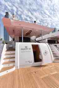 Majesty 90 Accessto Crew Quarters and Engine Room