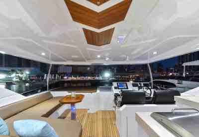 Majesty 90 Fly-bridge Seating and Helm