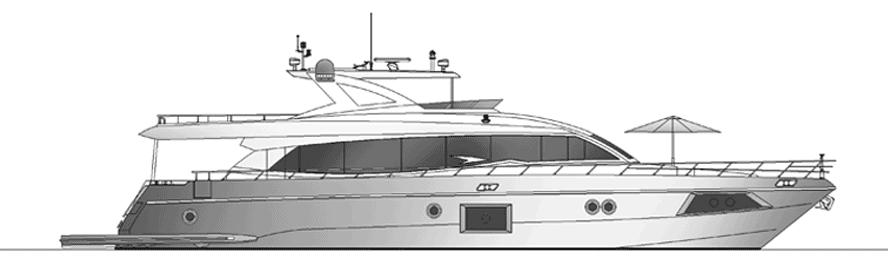 Majesty Yachts 90 2D