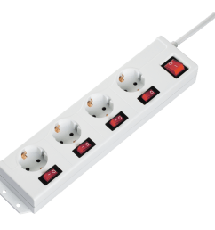 4 1 multiple socket outlet 4 socket individually switchable white [ 1100 x 1100 Pixel ]