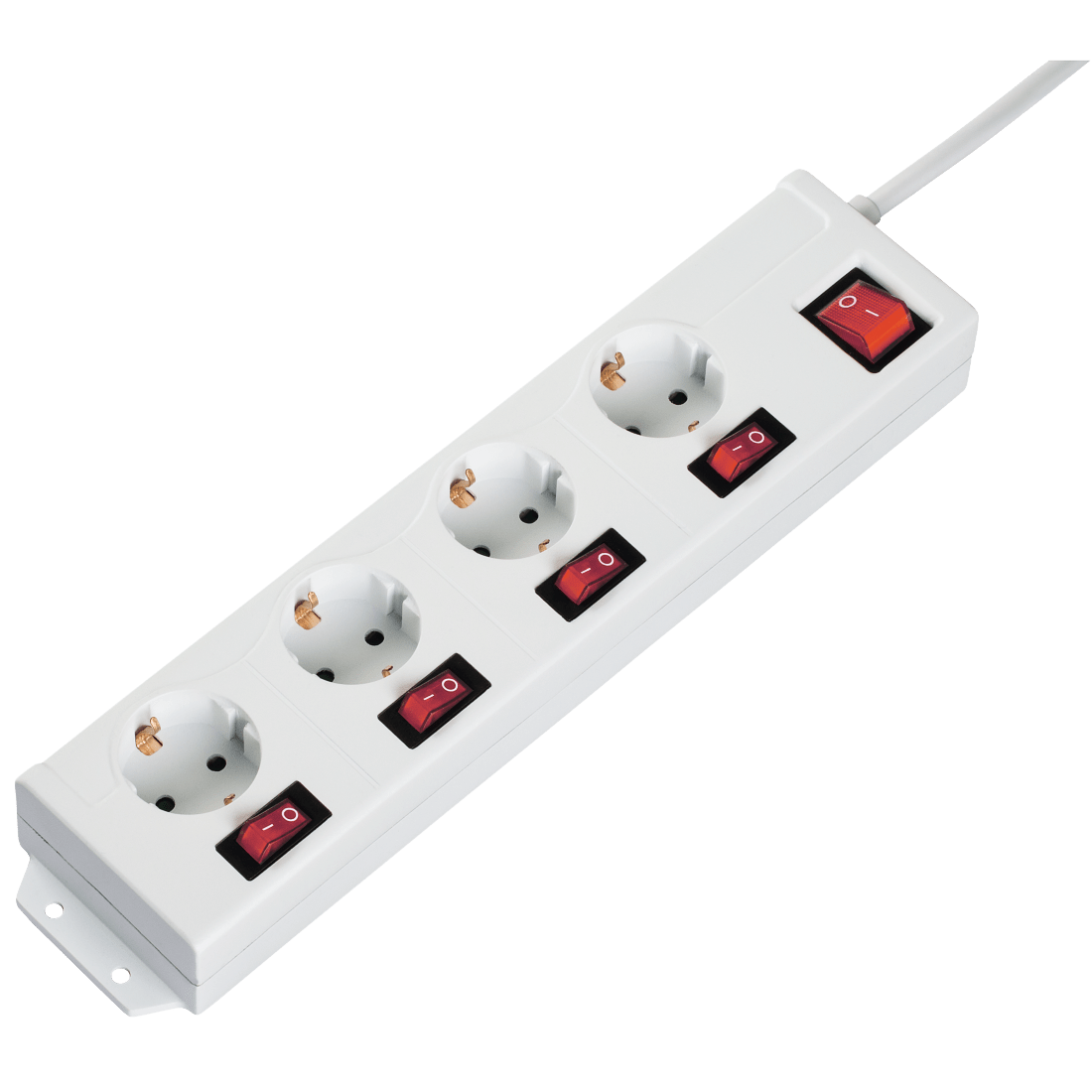 hight resolution of  4 1 multiple socket outlet 4 socket individually switchable white