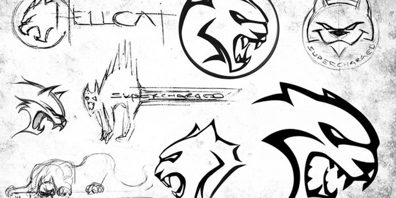 Sketsa Logo Dodge Hellcat 707 Hp Telah Diumumkan