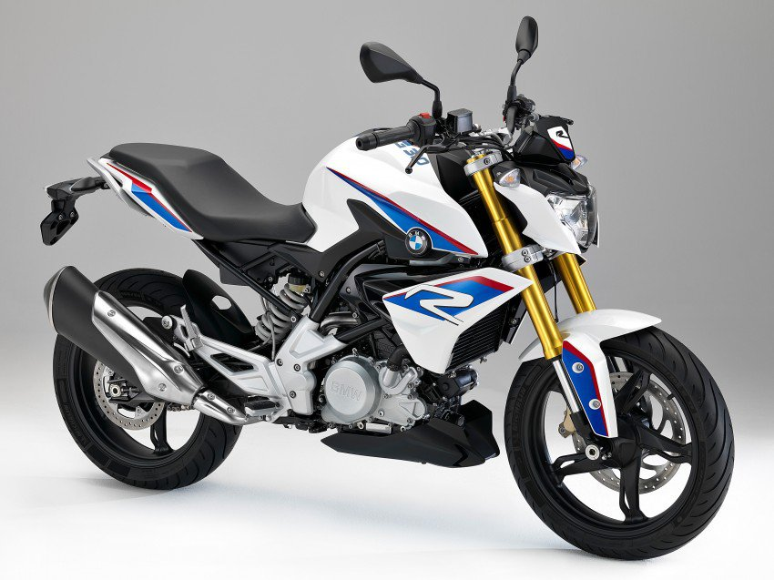 """Base Price: $5,500 (est.)You doesn't typically think of BMW as """"cheap"""" bikes, but the new G 310 R is here to change that. The new bike uses a 313cc liquid-cooled single cylinder that cranks out 34 hp up at 9,500 rpm. And that's plenty because this little bike weighs just 350 pounds. But the thing that makes the new BMW such a standout in this smaller-class of sporty bikes is the high-level of craftsmanship with which it's built. This doesn't look or feel like a budget bike. And like the more expensive BMWs, this one is fitted with ABS standard.We are particularly smitten by the bike's style—especially when it's wearing the classic old-school BMW white with red and blue stripes paint scheme. BMW hasn't yet announced pricing, but competitors like Honda's CBR300R and Kawasaki's Ninja 300 come in around $5000, so don't expect this one to stray too far outside that pricing neighborhood."""