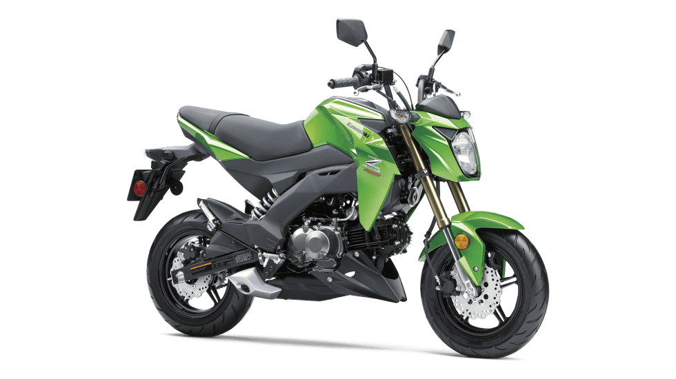 Base Price: $3000Honda broke new ground with its Grom minibike back in 2014. It was cute, fun, and quickly became cult hit. The bike was such a success, Kawasaki wanted a slice of that 125cc single-cylinder pie. The new Z125 Pro is ultra-compact and light (225 lbs.) Plus it undercuts that Honda in price. In fact, it's the only bike on our list that dips below $3,000.The low 31.7-inch seat height means it's an easy machine for riders with nearly any stature. The Z125 certainly looks aggressive and has a sport-style suspension that should make it a blast around town. Of course, if you need to hit the freeway, this little Kawi won't cut it. But it's so small and inexpensive, we could see owning one and parking it right next to a full-size bike as a spunky little errand hopper. Best of all? The Z125 should return close to 100 mpg.