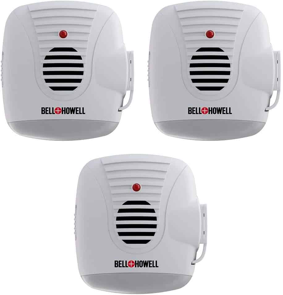 Bell + Howell Ultrasonic Pest Repeller with AC Outlet and Night Light (Pack of 3)