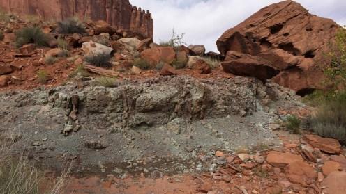 Die typische Gesteinsart des Upheaval Domes