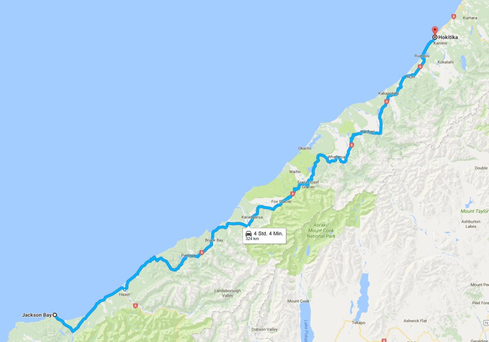 Karte-Jackson-Bay