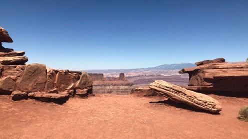 Blick zu den La Sal Mountains