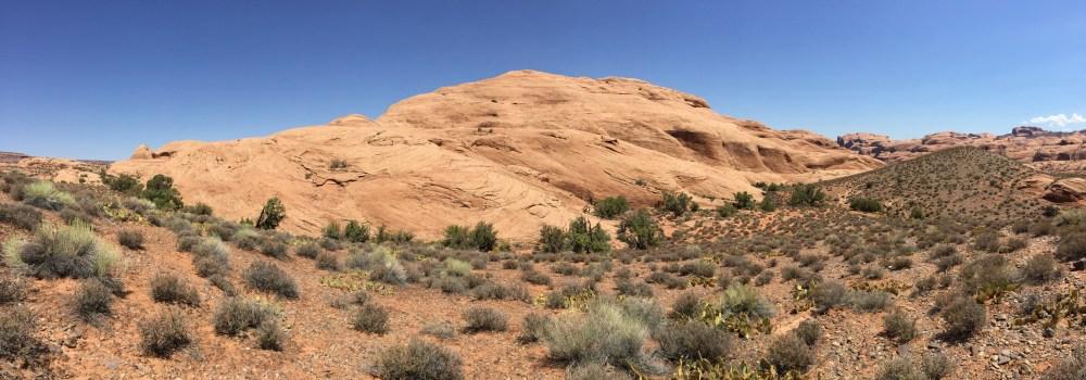 Unterwegs zum Longbow Arch in der Nähe von Moab, Utah
