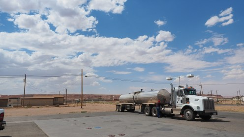 Klassische Trucker Tankstelle