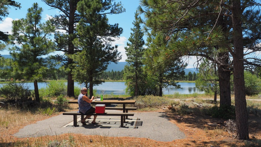 Picknick bei den Greens Lakes in der Flaming Gorge NRA