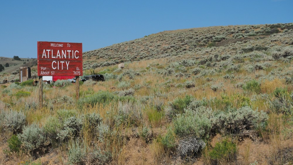 Willkommen in Atlantic City im Bundesstaat Wyoming