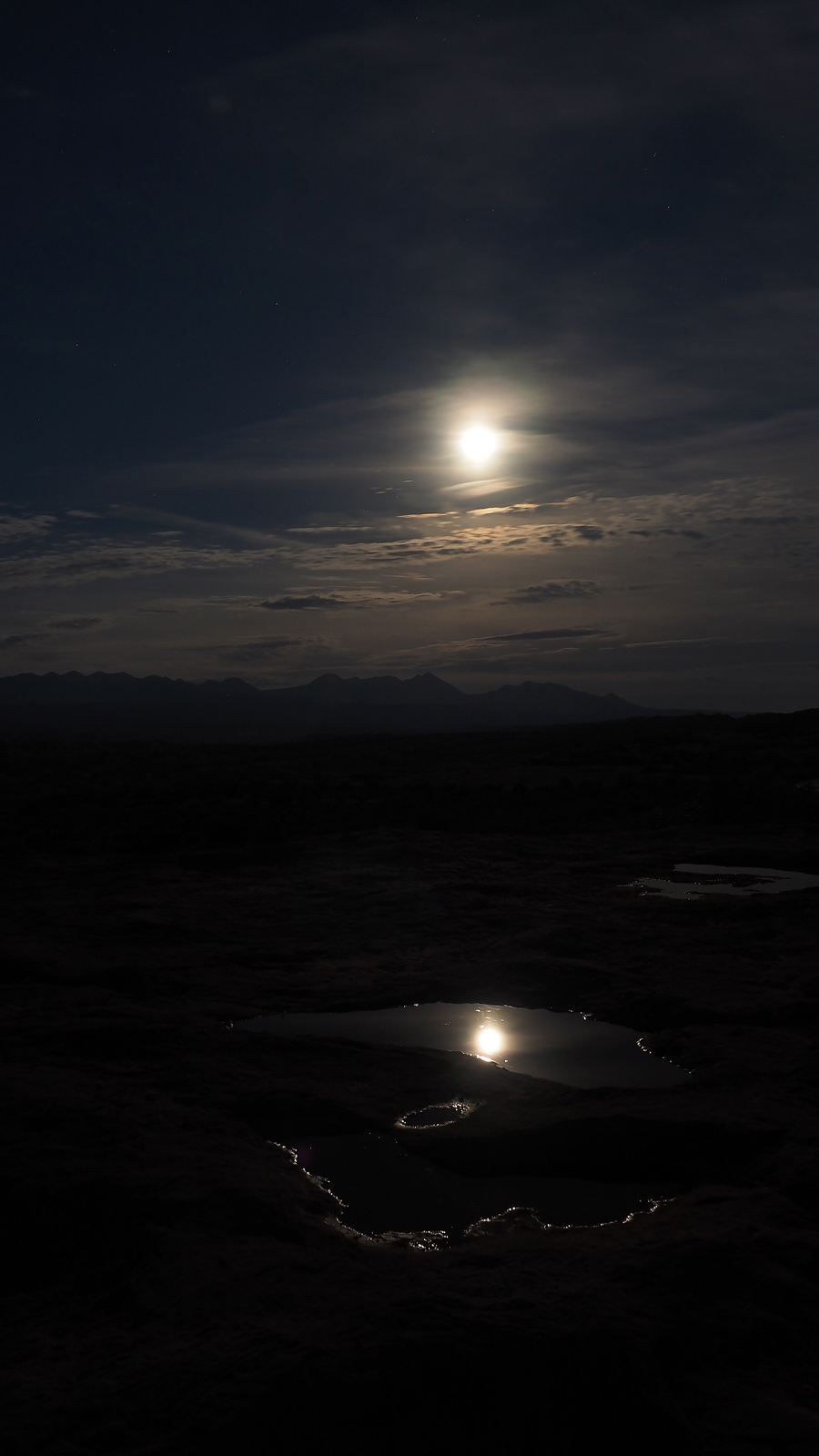 Arches National Park Vollmond beim La Sal Mountains Viewpoint