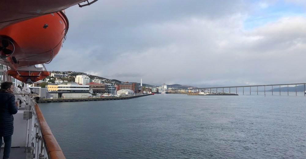 Die MS Polarlys erreicht Tromsø