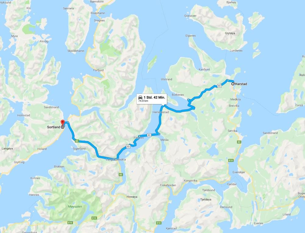 Karte Harstad