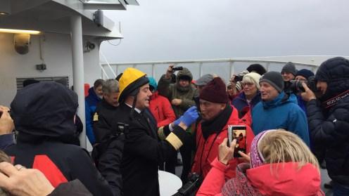Polarkreistaufe an Bord der MS Polarlys