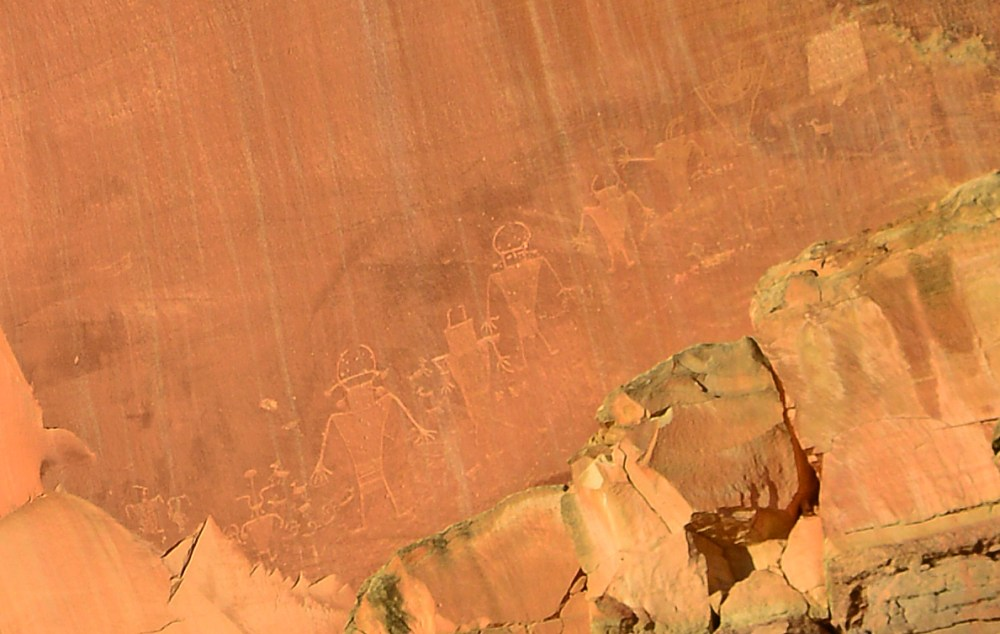 Petroglyphen im Capitol Reef National Park