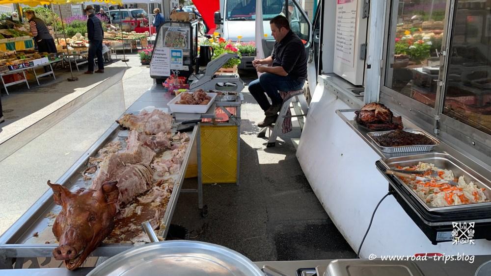 Markt von Carantec in der Bretagne
