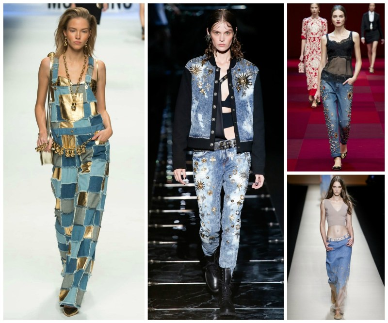 denim looks from the runway