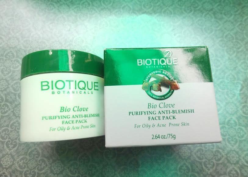 Biotique Bio Clove Purifying Anti Blemish Face Pack Review