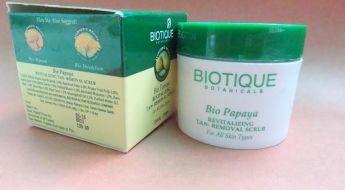Biotique Bio Papaya Revitalizing Tan-Removal Scrub Review