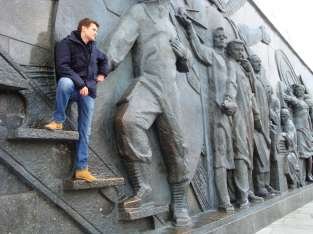 The Monument of Conquerors of Cosmos - relief, Gagarin
