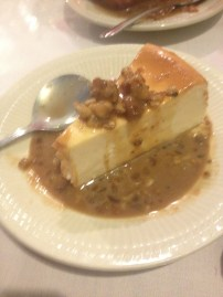cheesecake with praline sauce in new orleans