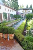 Beautiful fountains and gardens in Alhambra