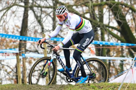 mathieu van der poel road bike action