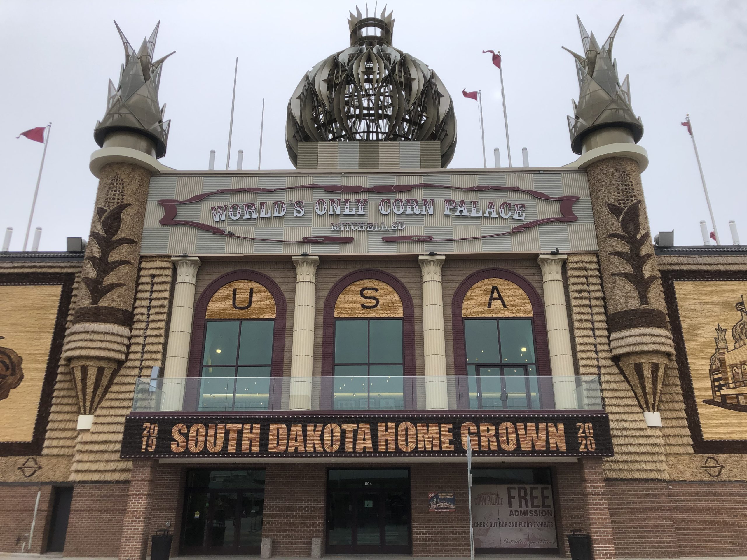 The outside of the Corn Palace in Mitchell, South Dakota