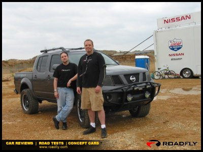 Charlie Romero and Max Farrow with Nissan Trucks Off-Road