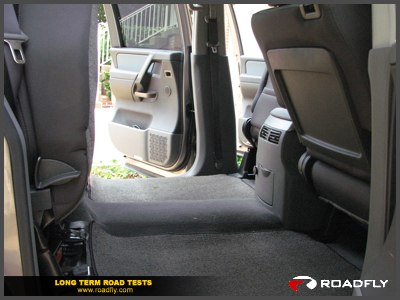 Nissan Titan cargo floor storage area
