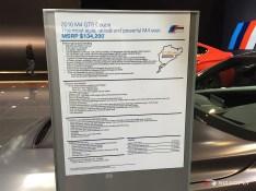 2017 BMW M4 GTS Specs