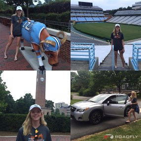 Ava Romero Touring UNC Chapel Hill for Lacrosse