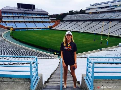 Ava Romero Touring Lacrosse at UNC Camp