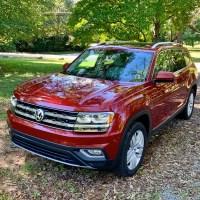 Red 2018 VW Atlas SEL Premium