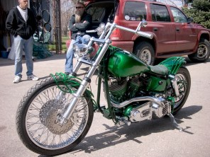 Sod-Amore Custom Shovelhead Chopper by Dozer Cycle