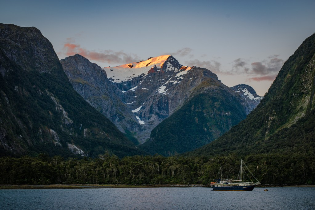 Fjord at Milford Sound, New Zealand