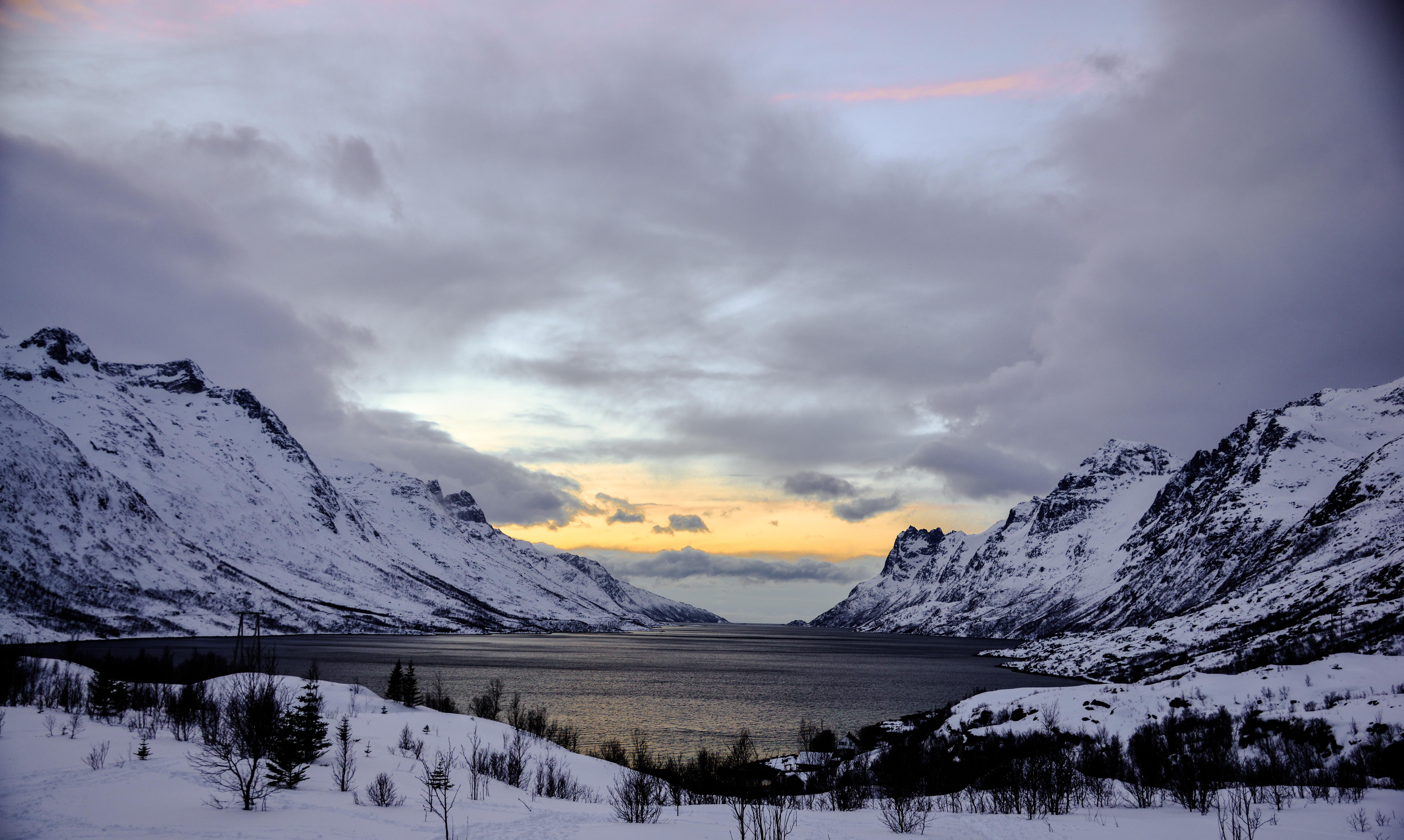Sunset at Ersfjord, Senja, Norway