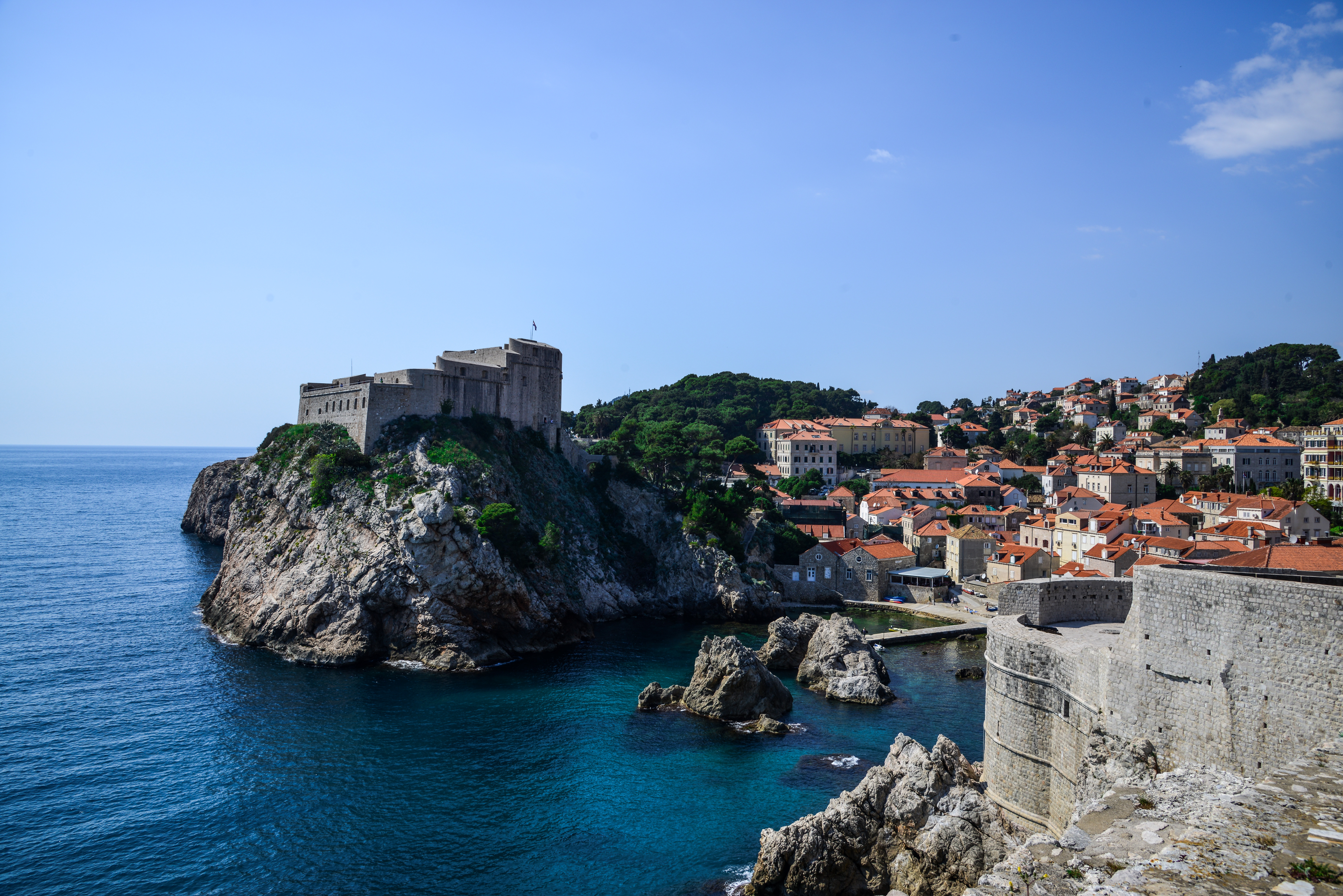 Fortress View from Dubrovnik, Croatia