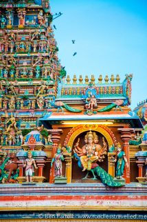 An ornate south Indian style temple