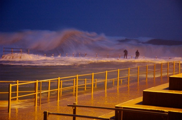 Dee Why Sea Baths in Sydney Storm
