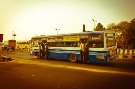 Just getting the bus to work is a life and death experience in developing countries.