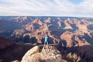 On the rim of the Grand Canyon. Arizona, USA.