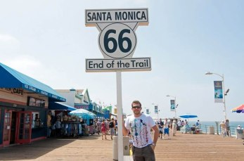 End of route 66. Santa Monica, California, USA.