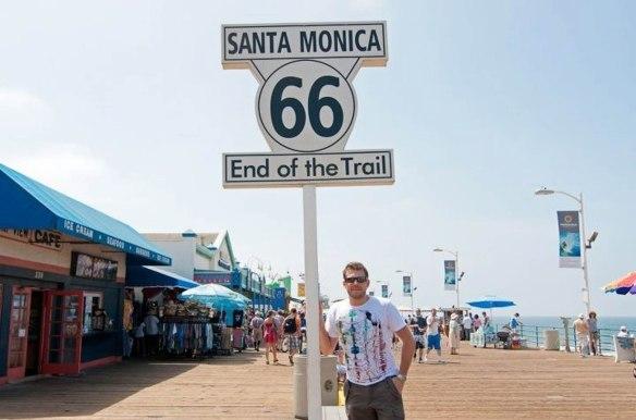 End of route 66. Santa Monica, California, USA.